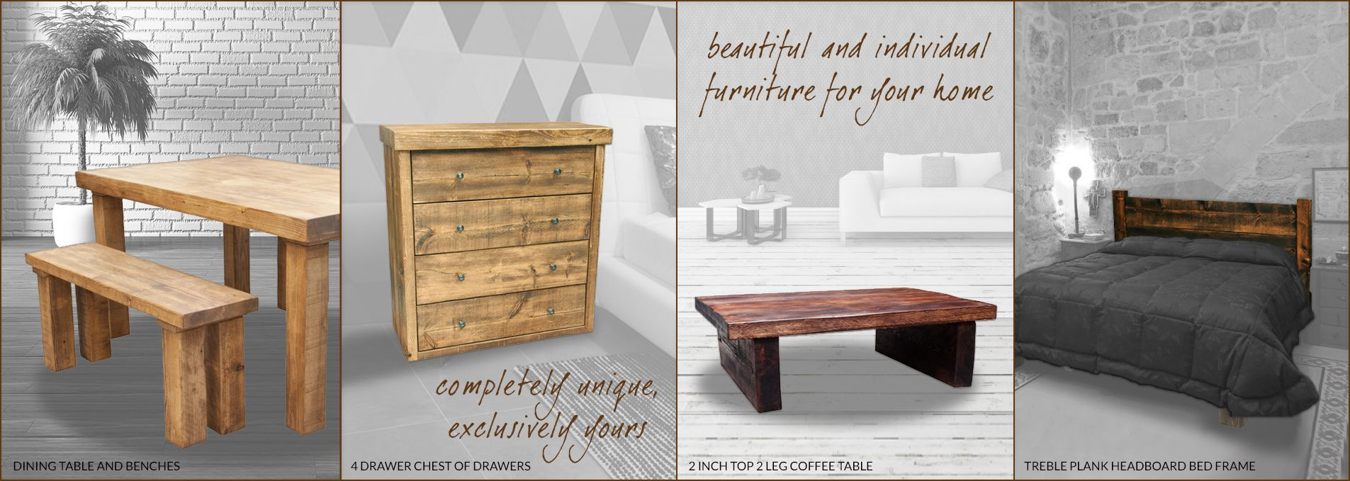 Handmade Rustic Furniture | Solid Wood Furniture From FCF UK ...