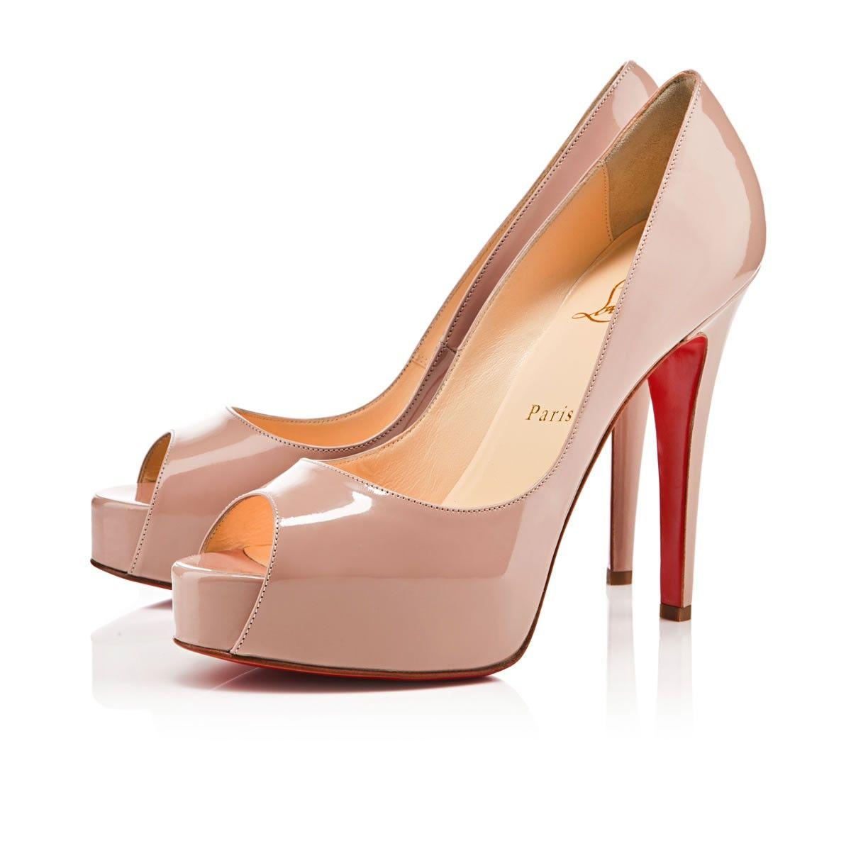 9c35d432811 Leisure In stock New Cheap Hyper Prive 120mm Peep Toe Pumps Nude Red Sole  Shoes Good-feeling Christian Louboutin Special Offers
