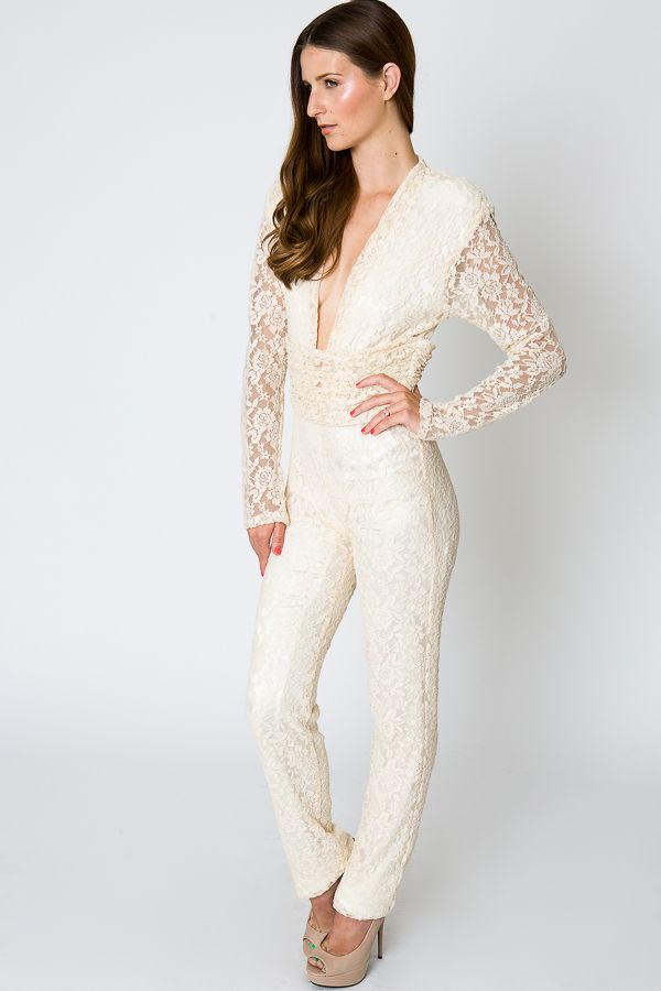 90934ea1e14f Delphine Lace Jumpsuit in 2019 | Ceremony Bonfire Party | Lace ...