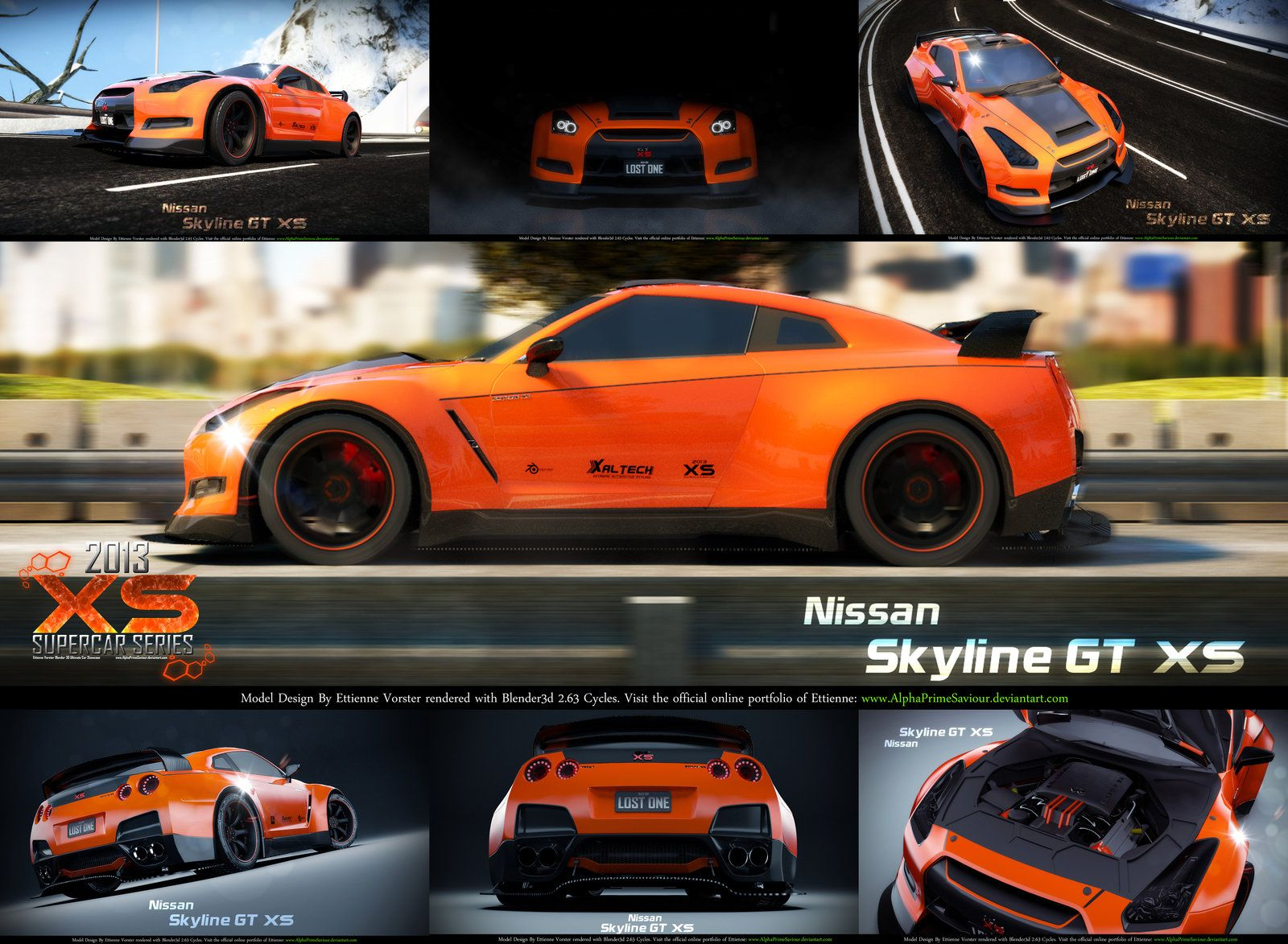 Nissan Skyline GT XS Poster by AlphaPrimeSaviour