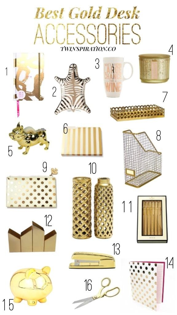 Best Gold Desk Accessories By Twinspiration Http Twinspiration Co Best Gold Desk Accessories Gold Desk Accessories Desk Accessories Gold Desk