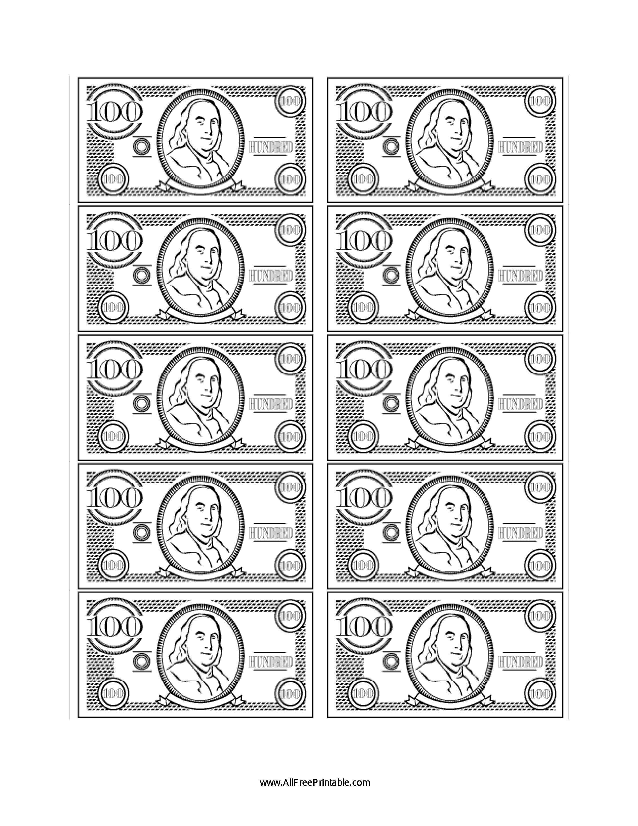 100 Bill Fake Money
