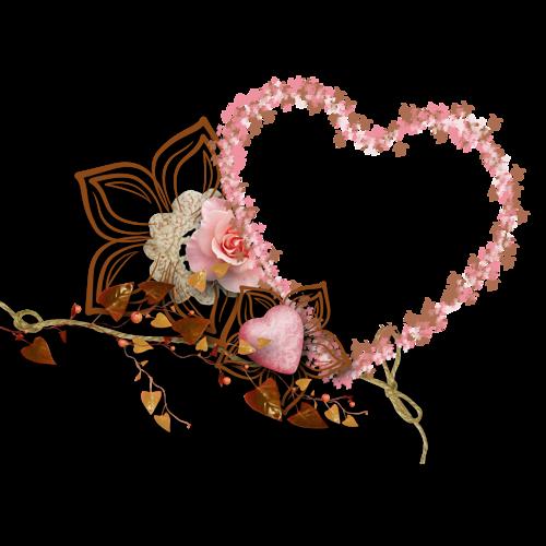 coeur,png,heart,Herzen,corazones,   Moldura floral, Floral e Coração