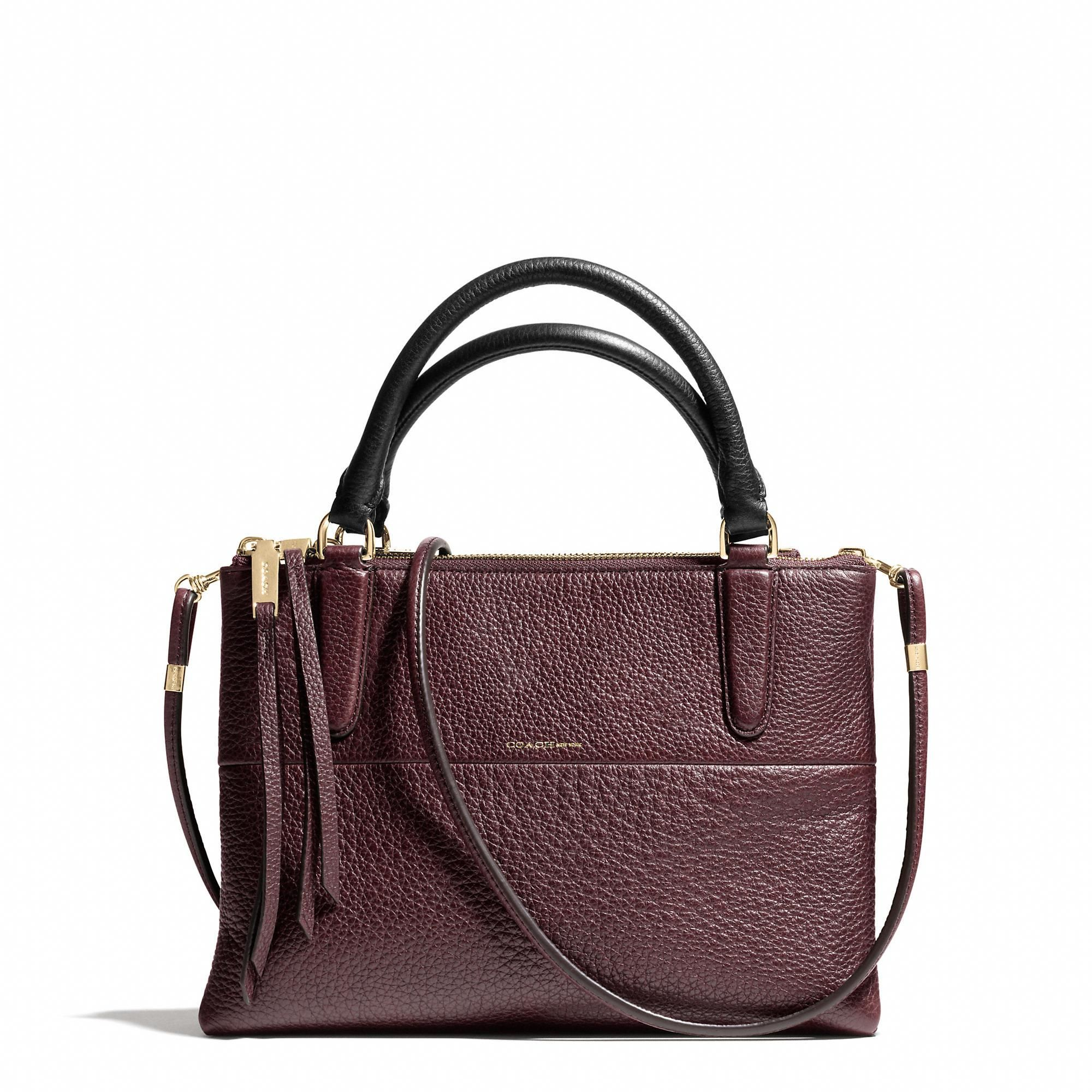 65d1f522124a ... canada the coach mini borough bag in pebbled leather 56b3d bc256
