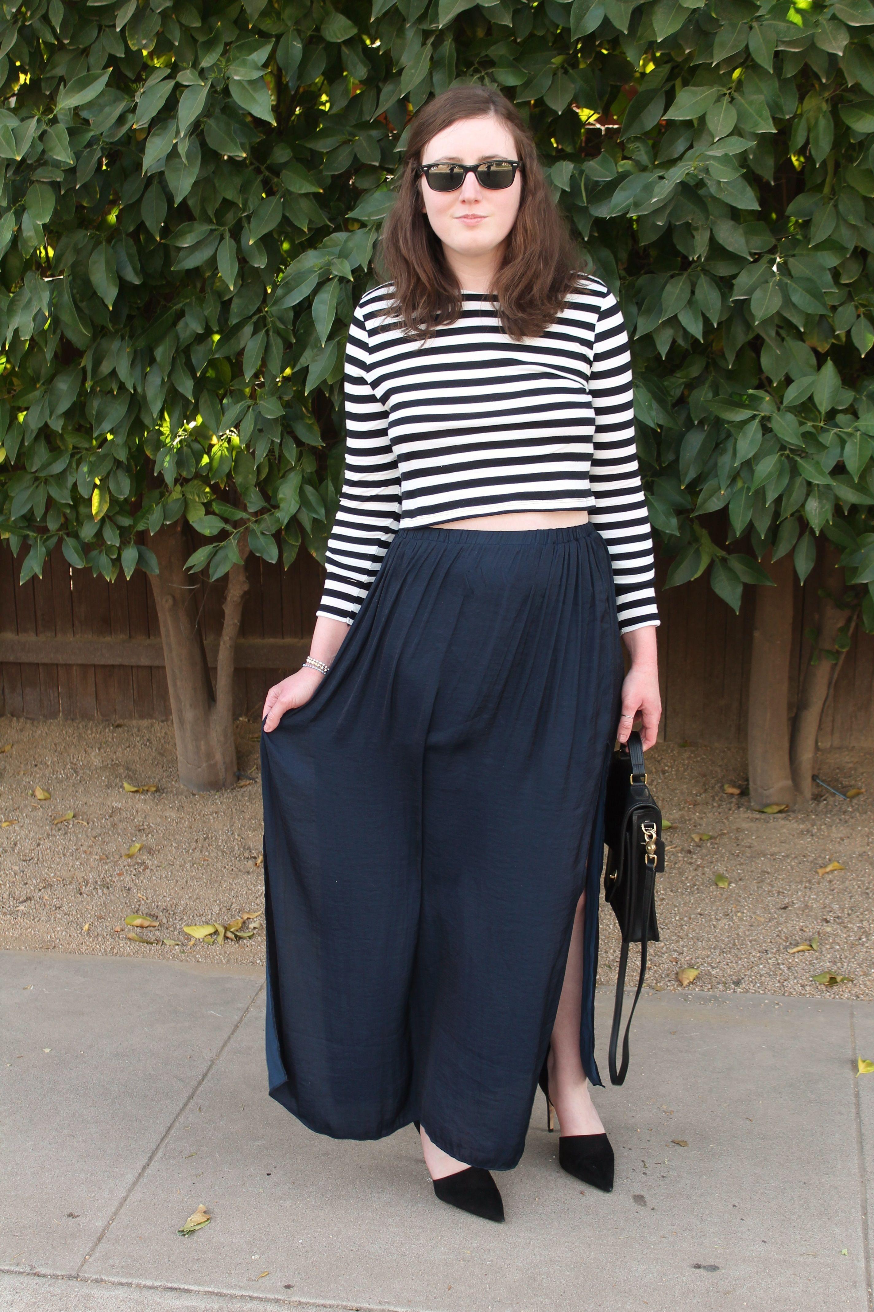 Crop top, maxi skirt