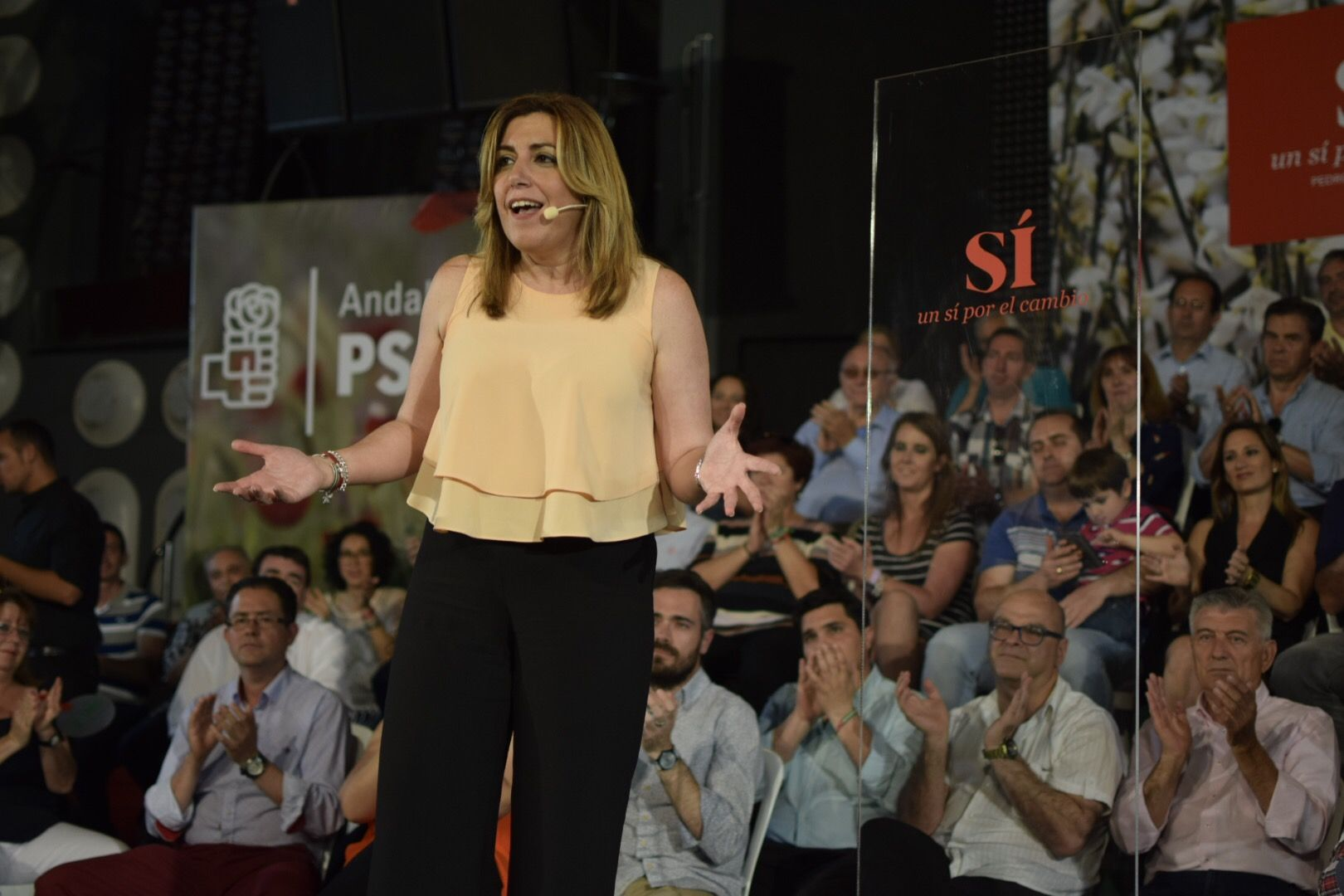 """Susana Díaz, en Bailén: """"Ni sorpasso ni zarpazo. Vamos a ganar los socialistas"""""""
