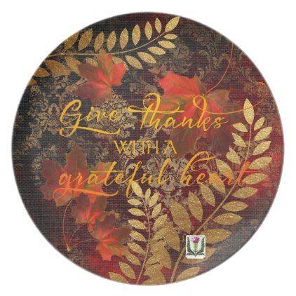 FDFall/Thanksgiving Collection  53086Da2 Melamine Plate   Fall Decor Diy  Customize Special Cyo
