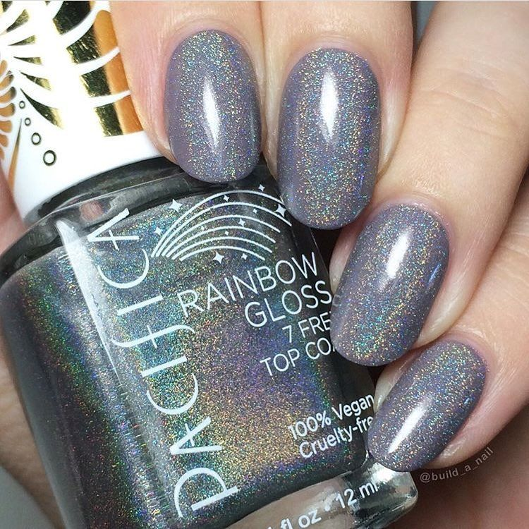 56f3cf4df16 Pacifica 7 Free Rainbow Gloss Top Coat. It s so beautiful in person ...