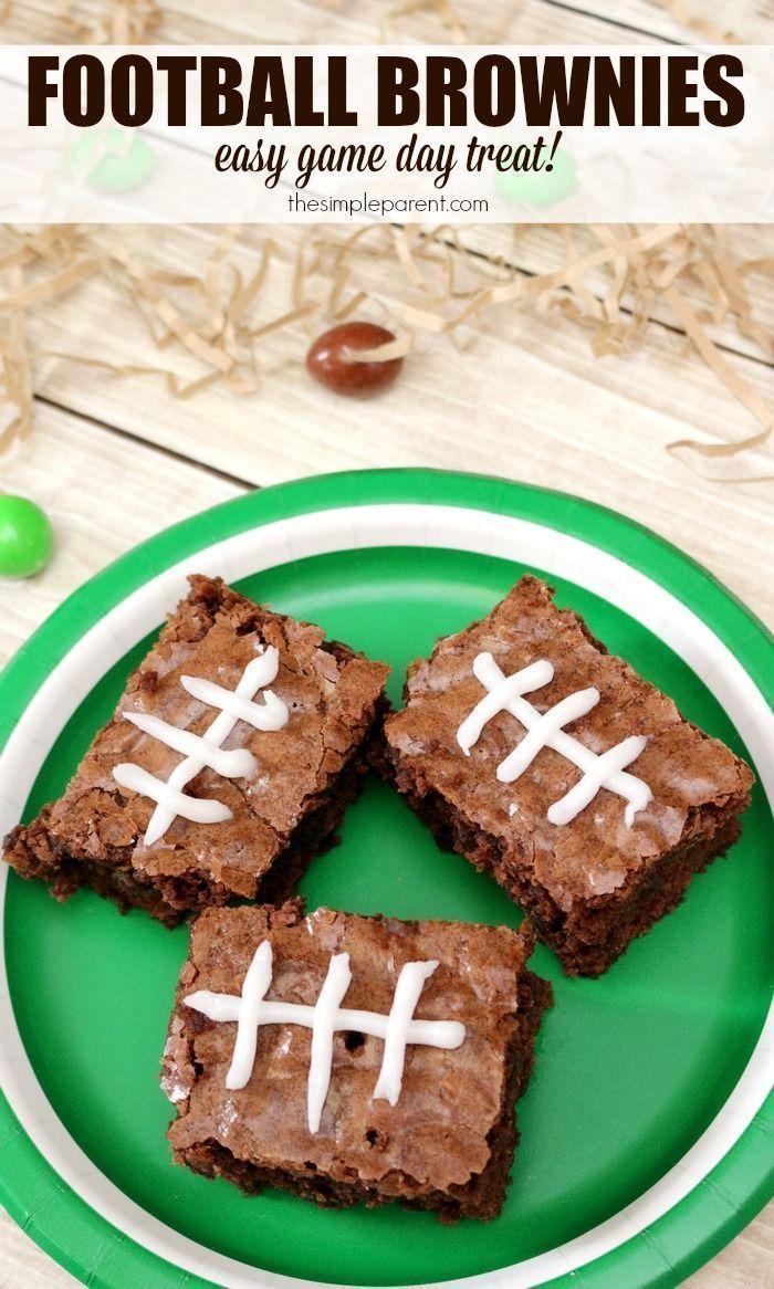 How to Make Football Brownies pics