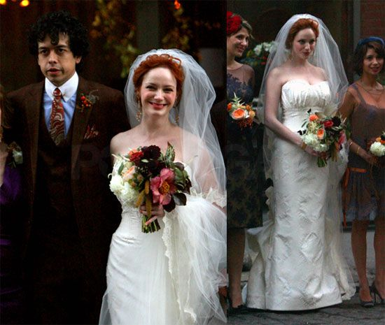 Mad Men S Christina Hendricks Ties The Knot With Geoffrey Arend