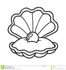 Shell Illustration Shell Drawing Vector Art Illustration Coloring Pages