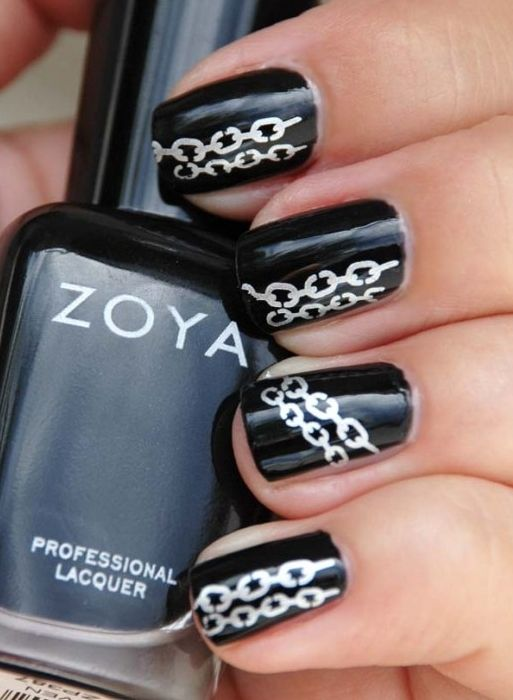 Chain Nail Art Stuff To Try Pinterest Simple Nail Art Designs
