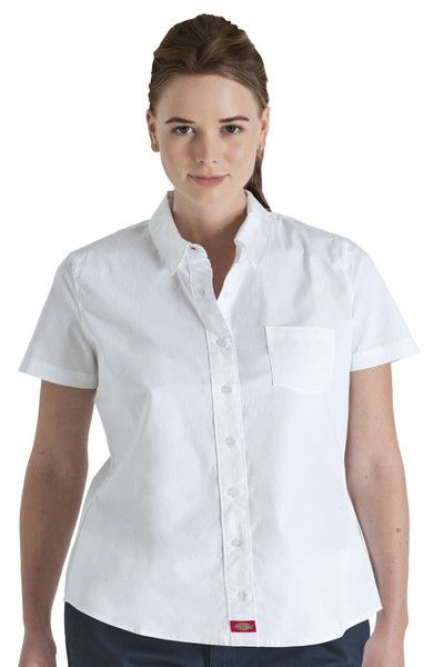 e2fed364 Plus Size Short Sleeve Button Down Shirt - Dickies Girl | Dickies ...