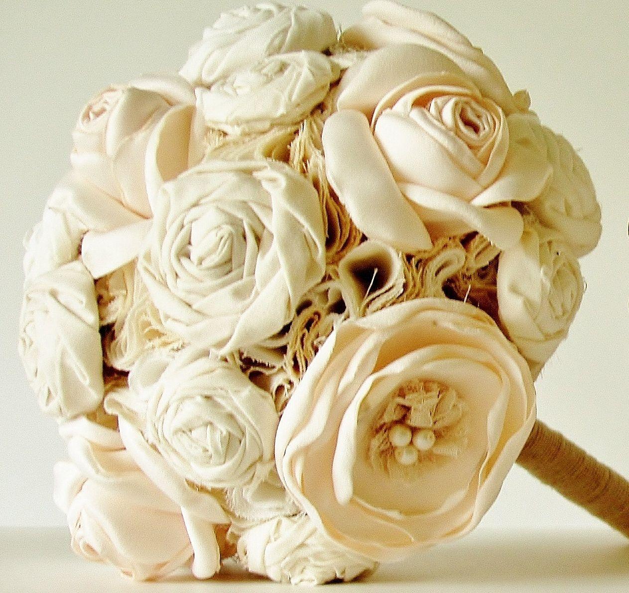 Fabric flower wedding boquet fabric flower bouquet vintage bridal fabric flower wedding boquet fabric flower bouquet vintage bridal bouquet by bouquets4love izmirmasajfo