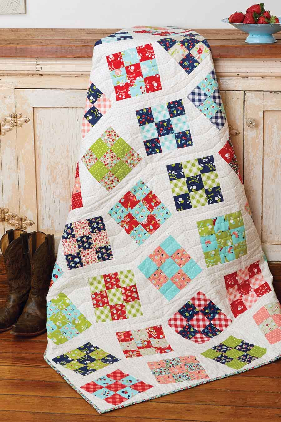 Line Dance Quilt - Fons & Porter | Patch quilt, Patches and Patterns : the quilting patch - Adamdwight.com