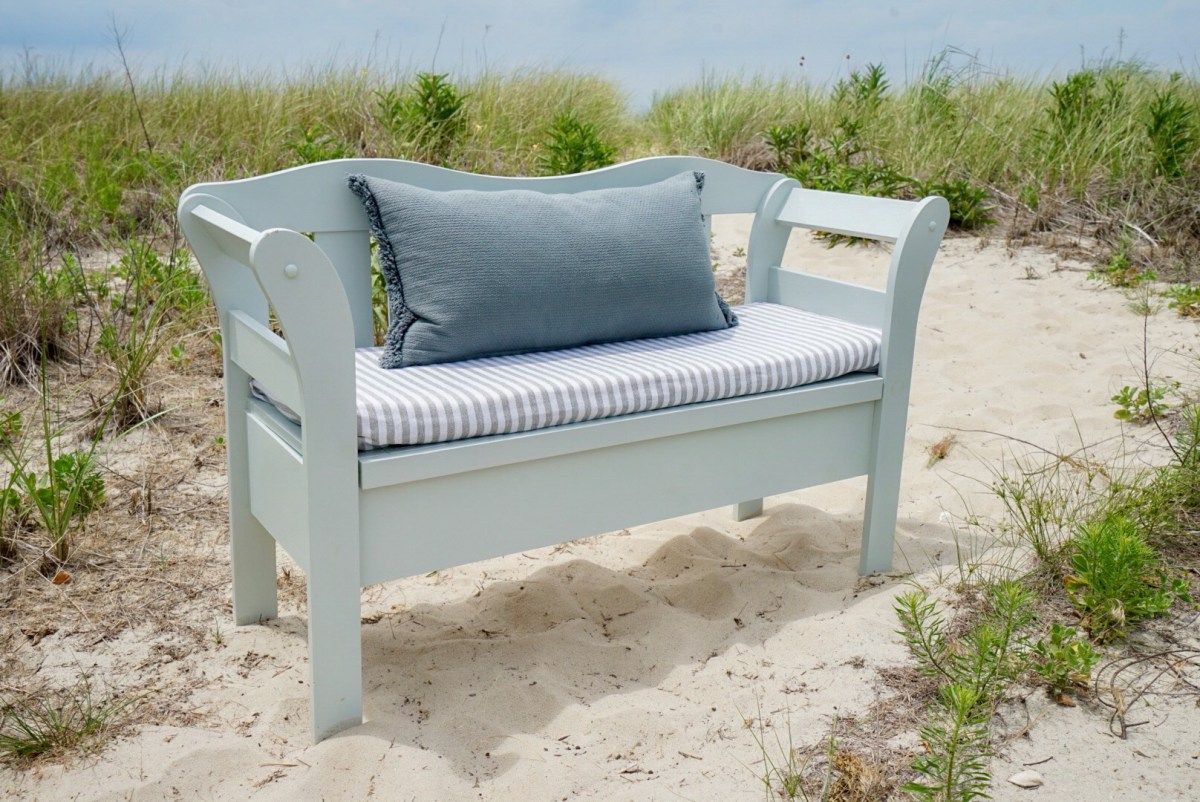 A easy and affordable bench flip for a beach side cottage salt air