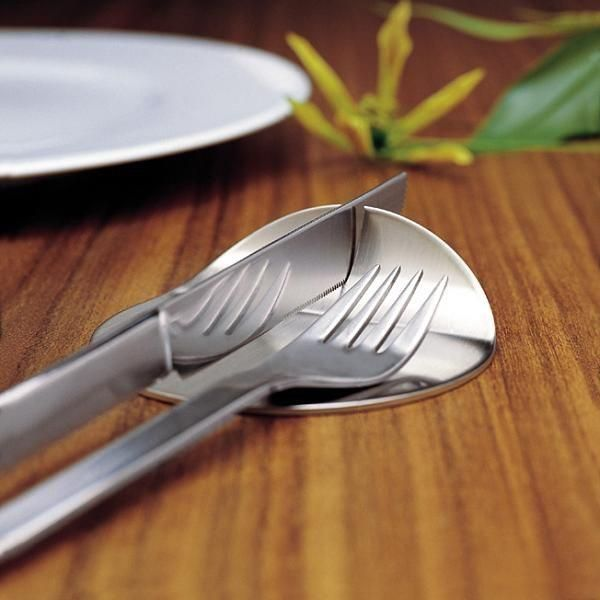 Smart Cutlery Holder By Bouf The Knife Rests In A Specially