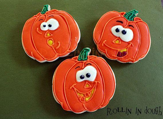 Halloween Cookies Pumpkin Cookies Pumpkin Face by rollinindough - halloween pumpkin cookies decorating