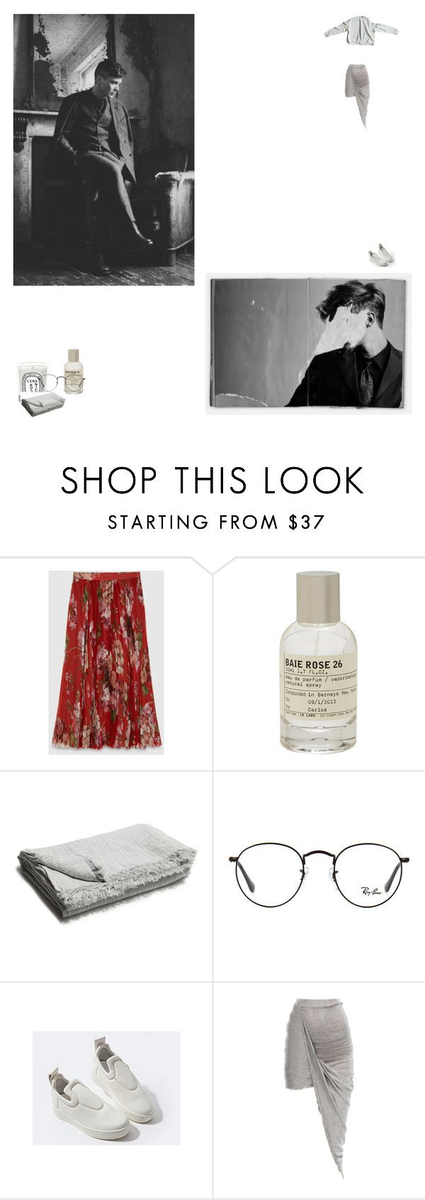 """""""L O"""" by newageconstellation ❤ liked on Polyvore featuring Gucci, Le Labo, Murphy, Diptyque and Ray-Ban"""