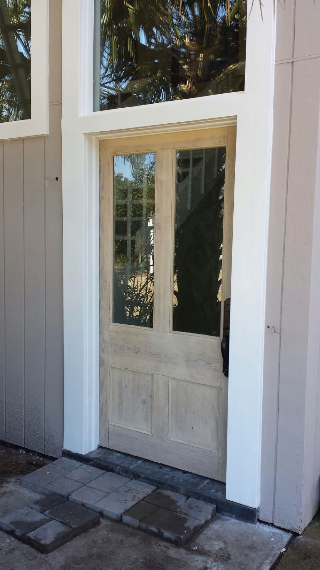 Antique door restored for North Carolina beach house. - Antique Door Restored For North Carolina Beach House. Doors In