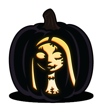 Sally The Nightmare Before Christmas Pumpkin Pattern Halloween