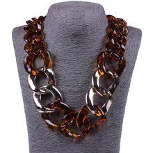 6ebec0080af5 Joyería venta al por mayor 2015 Color carey China de fábrica cadenas moda  cadenas de bricolaje Vintage de acrílico redondo collares(Hong Kong)