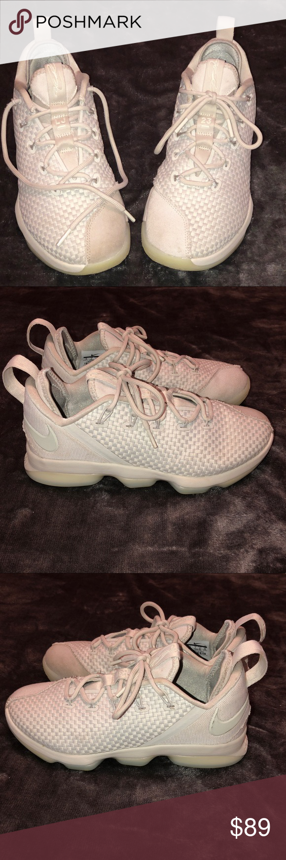 e242703dbde81 Nike LeBron James 14 low top light bone ivory sz 8 Nike LeBron James ...