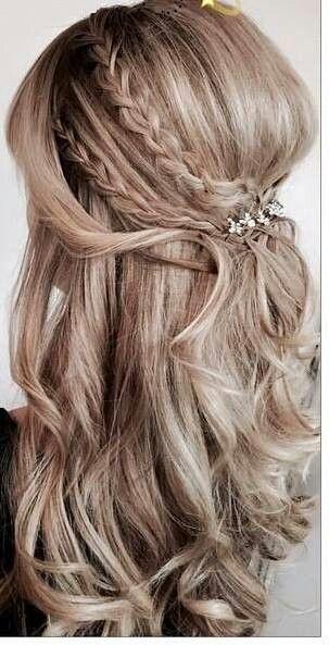 Cute Braids Hairstyle Frisuren Jugendweihe Pinterest