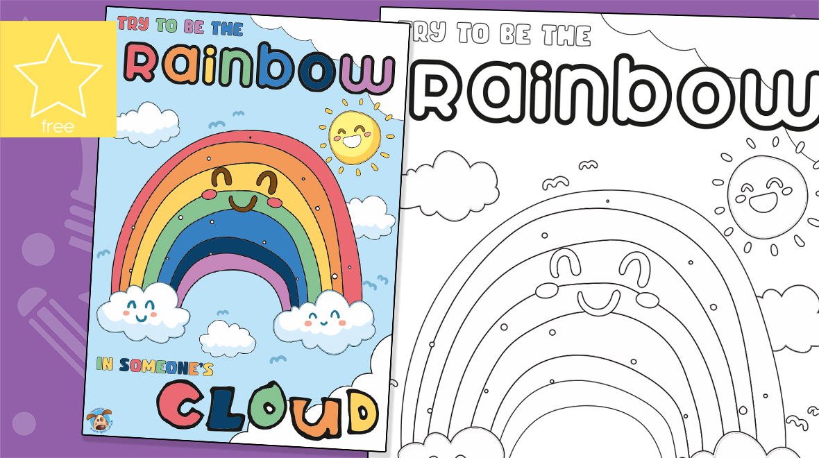 Try To Be A Rainbow Window Poster Colouring Activity In