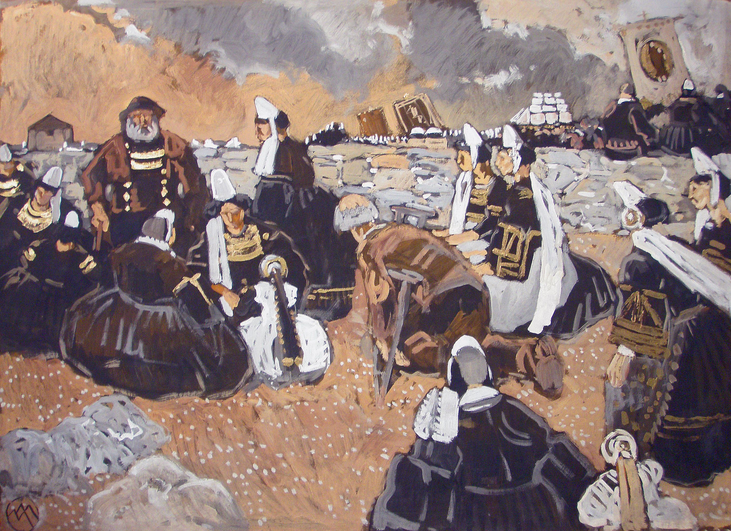 Mathurin Meheut 1882 1958 Pardon De La Joie Penmarc H Caseine Rehaussee De Tableaux Modernes Ecoles Bretonnes A Tableaux Modernes Peinture Joie