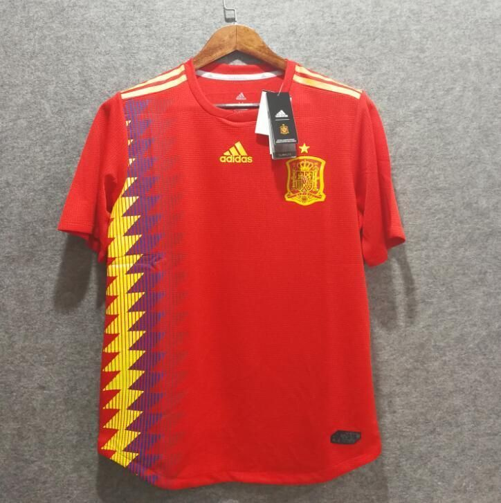 0976b508163 ADIDAS SPAIN HOME PLAYER VERSION JERSEY WORLD CUP 2018 Discount Price 52.99  Free Shipping Buy it Now