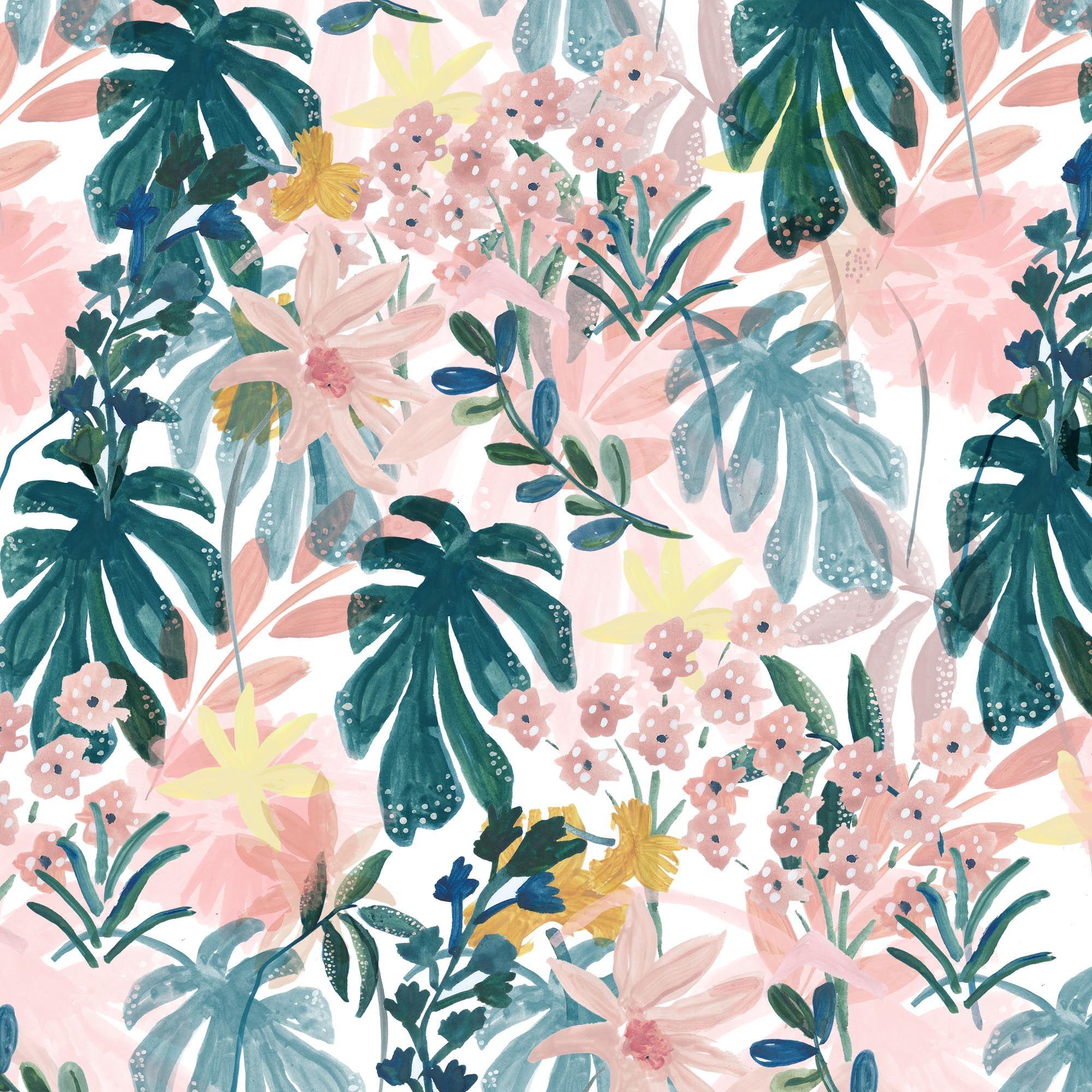 Floral pattern, flowers, springtime, pattern design ...