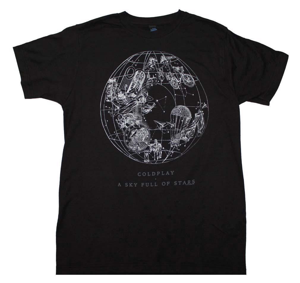 Coldplay Sky Full of Stars T-Shirt - Black - Large
