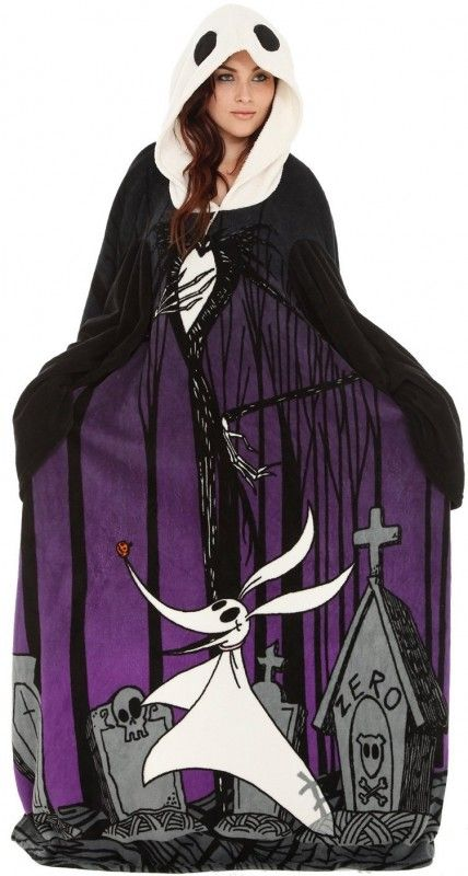 The Nightmare Before Christmas Jack Cozy Throw With Sleeves so cute!