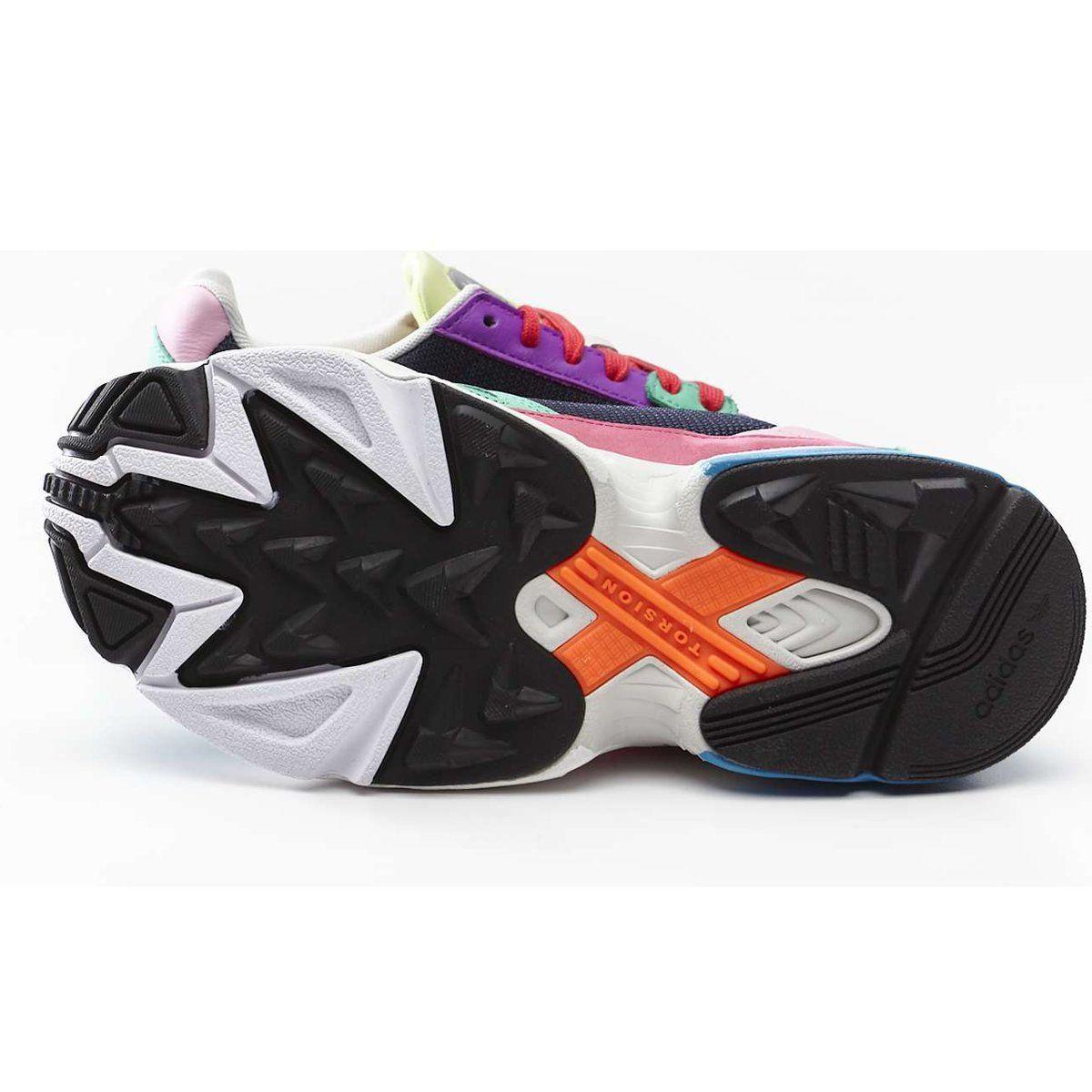 Sportowe Damskie Adidas Adidas Wielokolorowe Falcon W 211 Multi Collegiate Navy Hi Res Green Air Jordan Sneaker Sneakers Nike Shoes