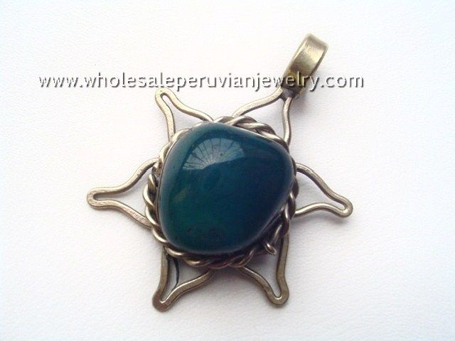 Agate Silver Star PendantIndian Bull's Horn Pendanthttp://www.wholesaleperuvianjewelry.com