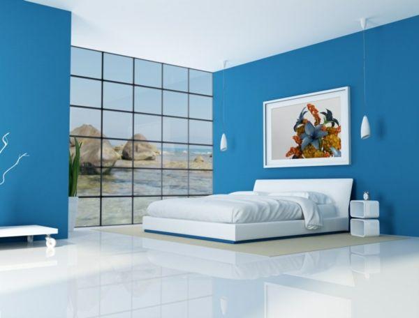 Modernes Feng Shui Schlafzimmer Blau Weiss Haloszoba Schlafzimmer