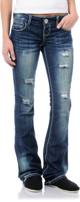 b10369b9685 Almost Famous Harper Medium Blue Bootcut Jeans