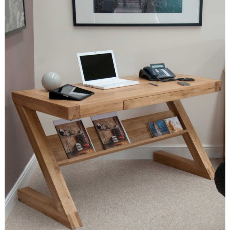 Solid Oak Small Narrow Computer Desk Computer Furniture Furniture Home Office Furniture