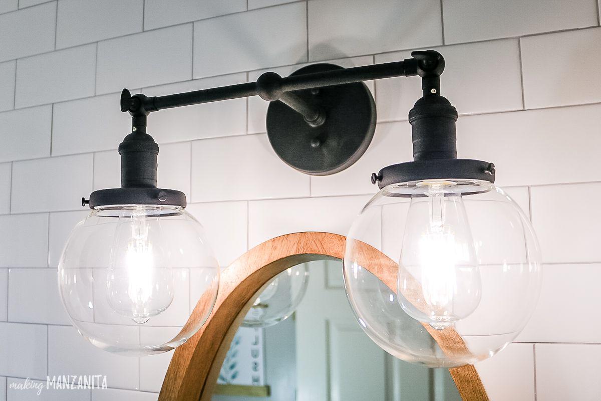 Modern Farmhouse Bathroom Reveal With Boho Vibes Modern