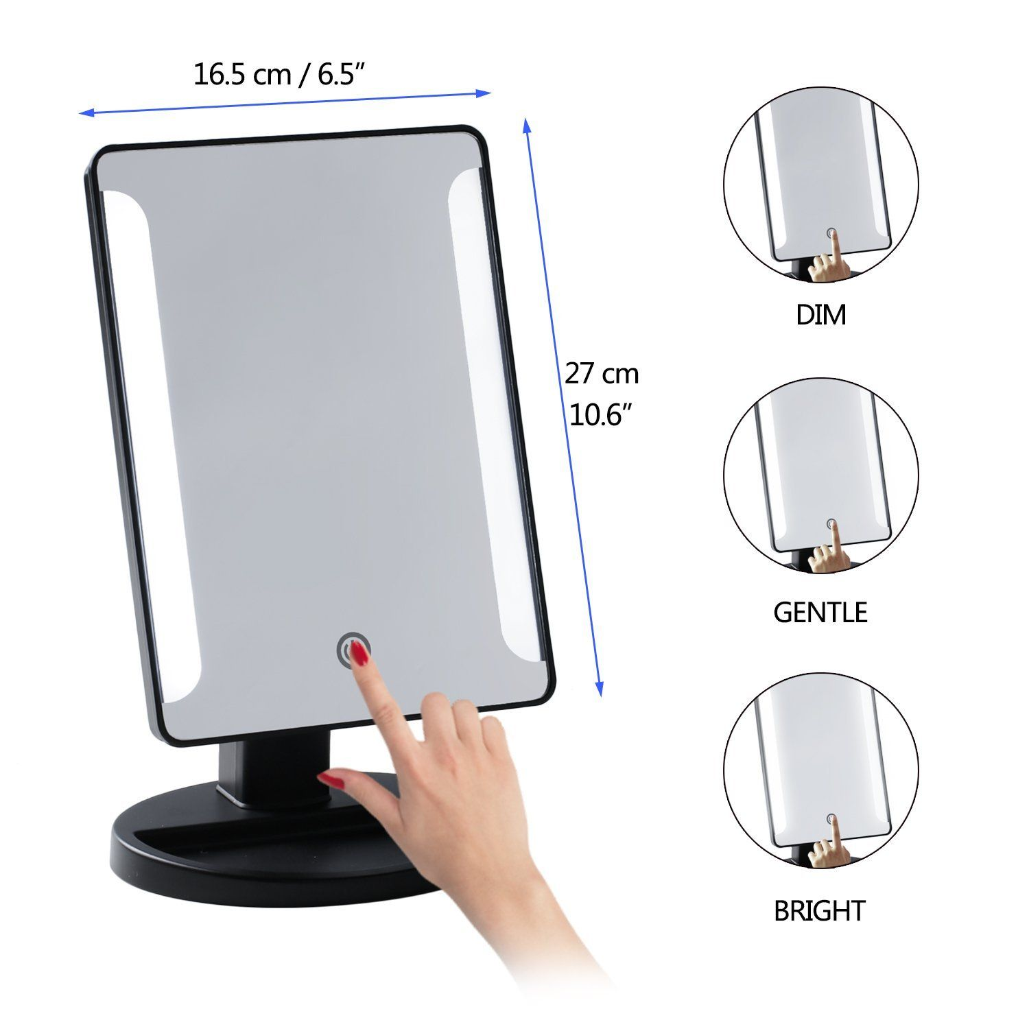 Portable Vanity Mirror With Lights Stunning 36 Led Desk Makeup Mirror 10X Magnifying Lighted Makeup Mirror Design Inspiration