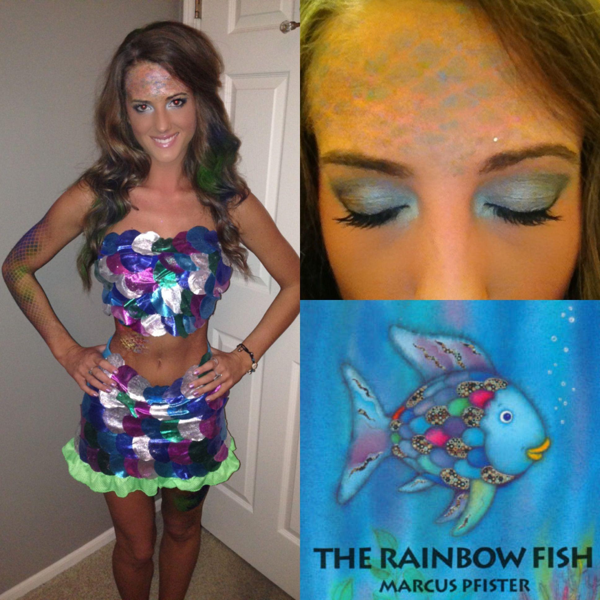 Rainbow Fish Diy Halloween Costume Halloween Pinterest
