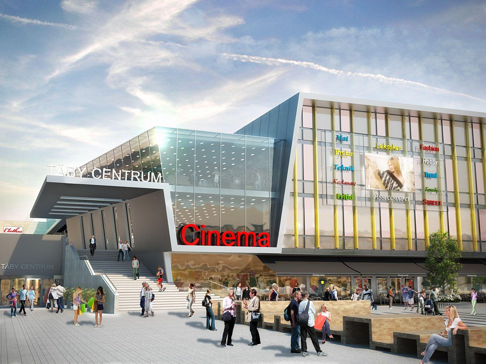 3D rendering Täby centrum