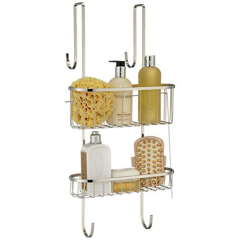 John Lewis Partners Over Door Double Shelf Shower Basket Shower Basket Shower Screen Shower Floor