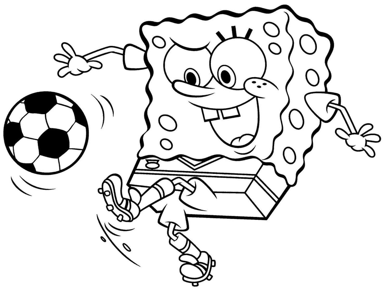 Gambar Mewarnai Spongebob