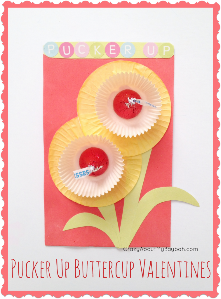 Pucker Up Buttercup Valentines Cards  Valentine Crafts for Kids