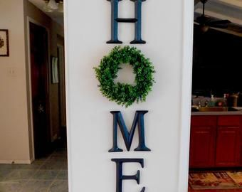 Home Sign, Home Letters, Home Letters with Wreath,