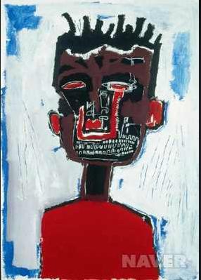쟝 바스키아    미국의 화가 쟝 바스키아의 자화상 27살이라는 젊은 나이에 마약 과용 사망한 그의 정신세계를 조금 보여주는 듯 하다
