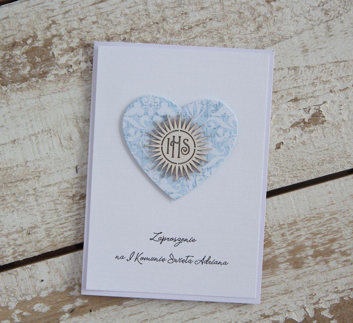Zaproszenia Komunijne Place Card Holders Cards Scrapbook