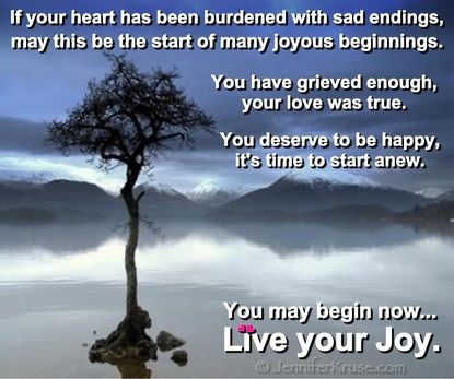 New Beginnings: Live Your Joy. You have permission to stop ...
